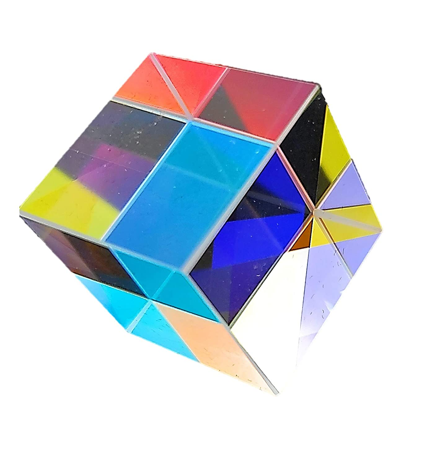 Akozon Optical Glass Prism Size 3 Optical Glass Lens Pyramid Shape Colored Prism for Physics and Research Decoration