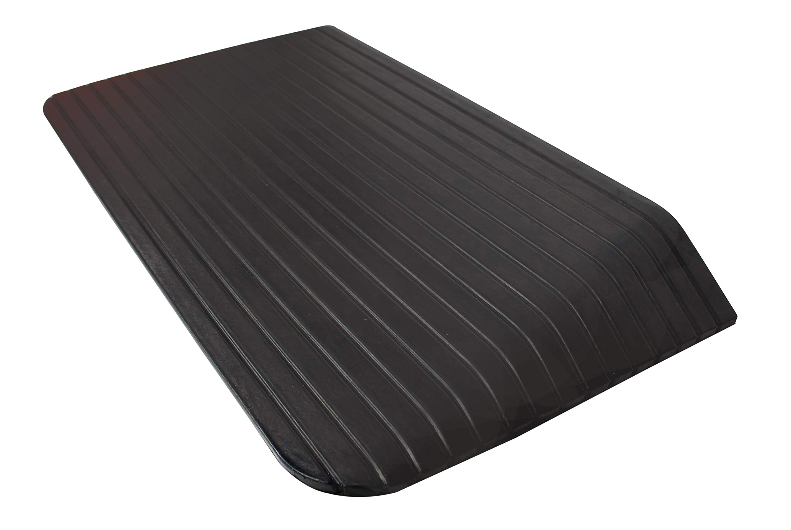 RK Safety RK-RTR06 Rise Solid Rubber Power Wheelchair Scooter Threshold Ramp (1 pcs, 35.5'' x 21'' x 3.5'')