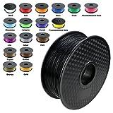 TIANSE Nero filamento stampante 3d, 1,75 mm, precisione dimensionale +/- 0,03 mm (2,2 lbs.)