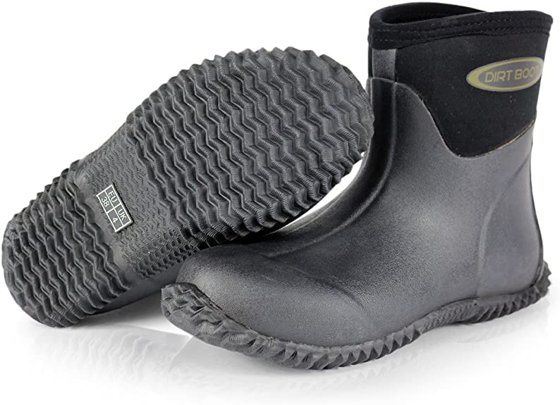 Mens Wide calf Waterproof Wellingtons Wellies Ankle Rain Mucker Boots Shoes New