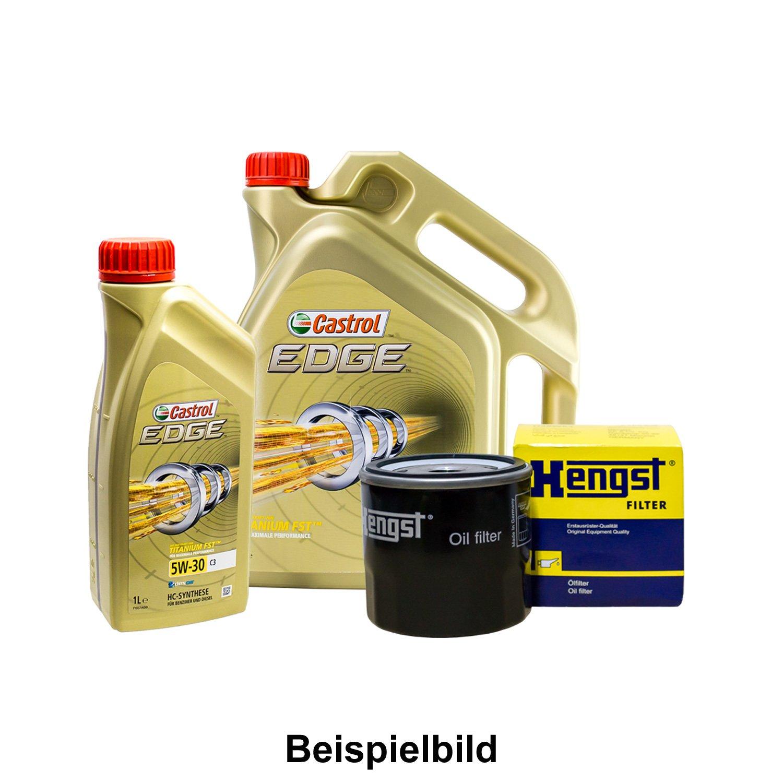 Set 6L de aceite Castrol 5 W de 30 + caballo semental de aceite para ...