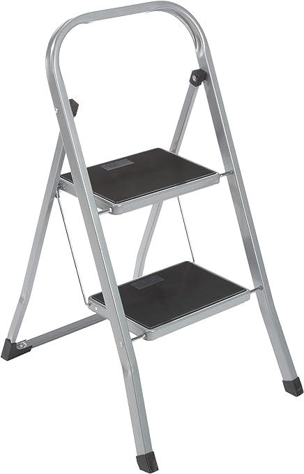 axentia – Escalera plegable con 2 peldaños, Taburete escalera, Escabel doméstico, Escalerilla multiusos – peldaños antideslizantes – carga máx. 150 kg: Amazon.es: Hogar