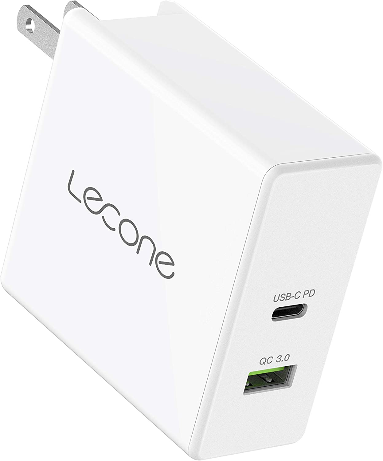 Lecone 60W USB C Wall Charger, 42W Power Delivery & 18W QC 3.0 Dual Port USB Charger, Compatible with iPhone 11/11 Pro / 11 Pro Max, MacBook Pro Air, Dell XPS, iPad Pro 2018 Nintendo Switch and More