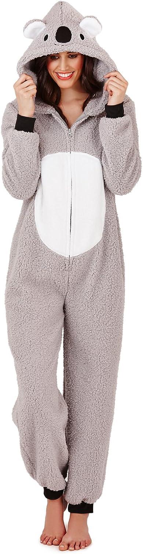 TALLA M. Loungeable Boutique - Forro Polar para Mujer, diseño de Animales, Todo en uno