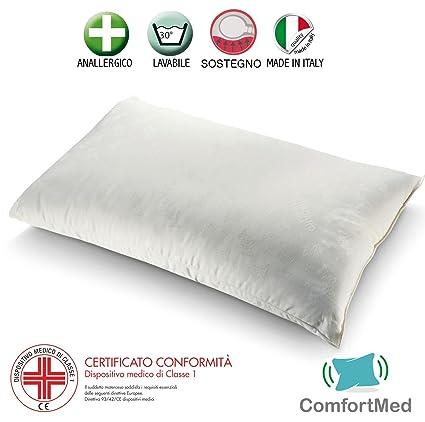 Cojín para cervicales ortopédico. Almohada de espuma para cama suave con estructura interna de doble
