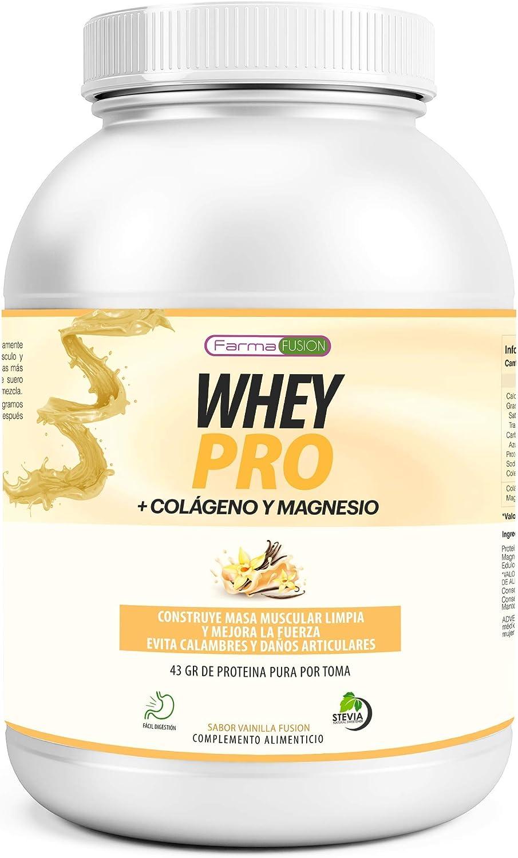 100% Whey Protein con Colágeno y Magnesio | 43Gr. de Proteína Pura por toma 0% Azúcares | Aumenta el crecimiento muscular y tonifica los músculos | ...