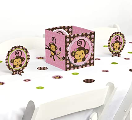 Amazon.com: Monkey Girl – Baby ducha o fiesta de cumpleaños ...