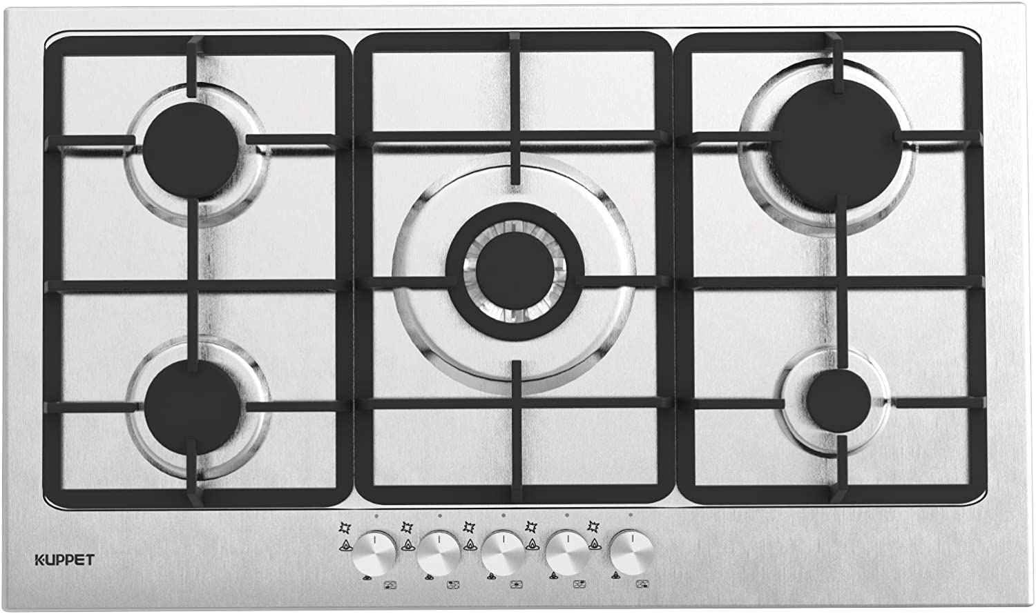 Gas Cooktop, KUPPET 20x34 inches Built in Gas Cooktop