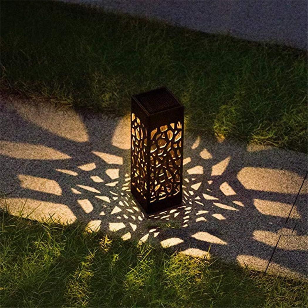 bommon Hohl Solar Lawn Lights Outdoor wasserdichte LED Einbauleuchte für Yard Path Path Lights