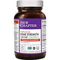New Chapter Calcium Supplement - Bone Strength Whole Food Calcium with Vitamin K2 + D3 + Magnesium, Vegetarian, Gluten…