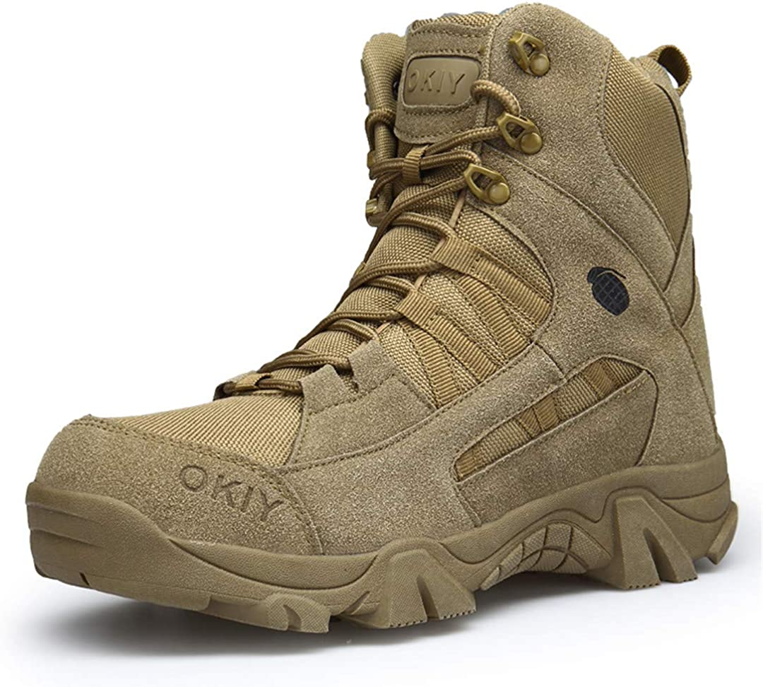 Military Boots High Top Sneakers Rubber