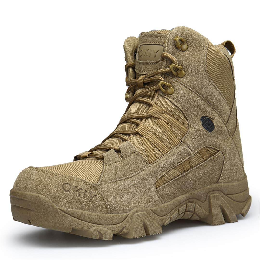 Military Boots High Top Sneakers Rubber Tactical Boots Man Mountaineering Outdoors Boots 1 11 by CNSDLK