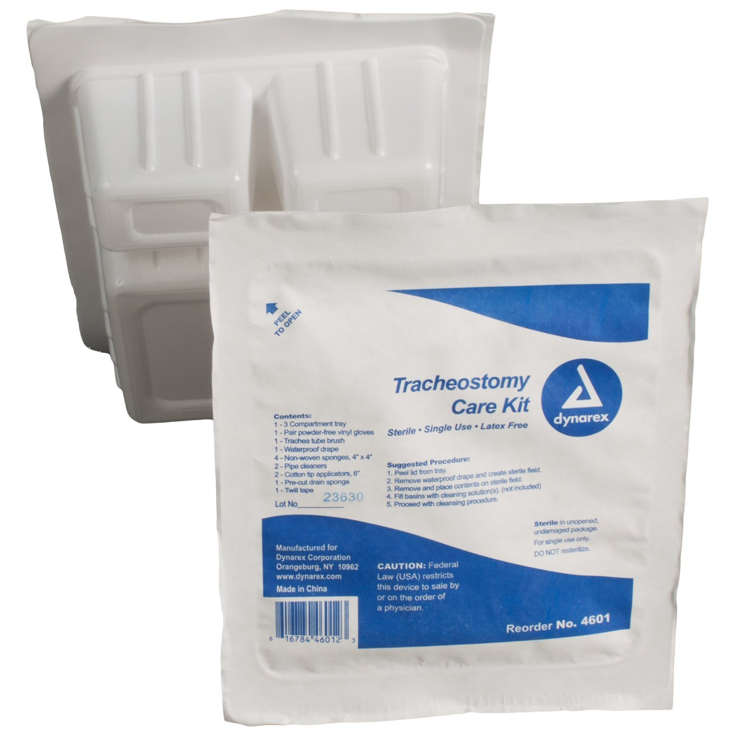 Dynarex Trach Kit with Gloves Sterile, 20 Count by Dynarex