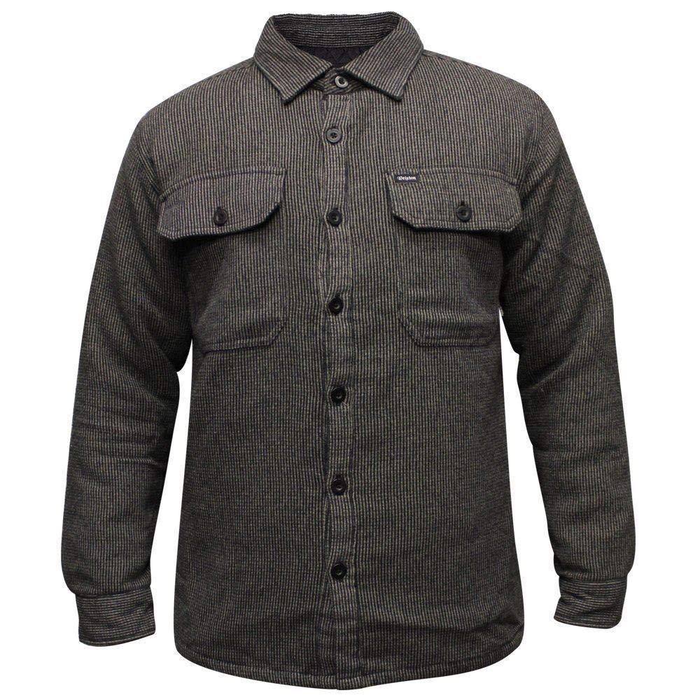 Brixton Lincoln Flannel Long Sleeve Shirt schwarz Charcoal