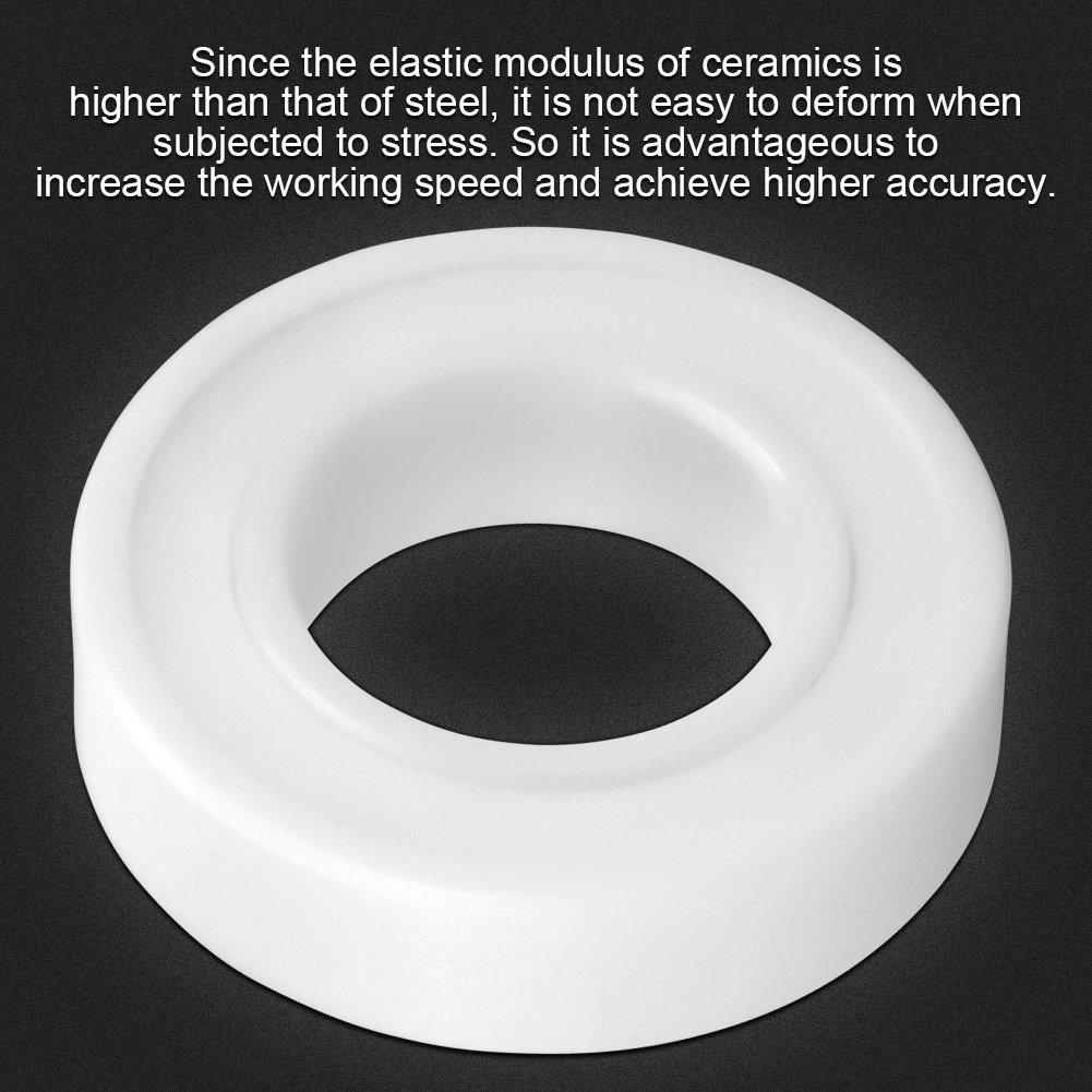 1pc 6902-2RS Sealed Full Ceramic Bearing ZrO2 Ball Bearing 15x28x7mm