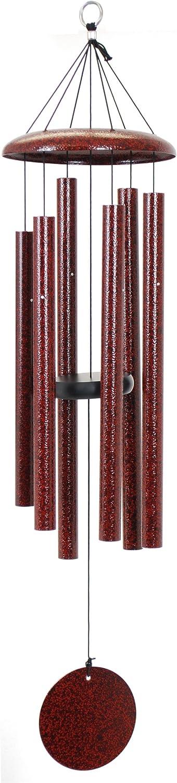Corinthian Bells 36-inch Windchime, Ruby Splash