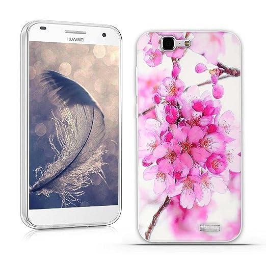 21 opinioni per Huawei Ascend G7 (L01 L03 C199) Cover, Fubaoda 3D Rilievo Bel fiore UltraSlim