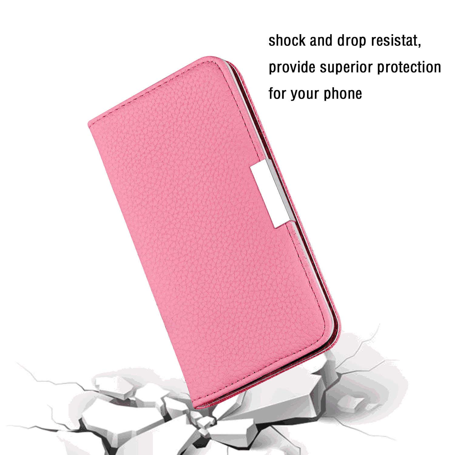 Blue Leather Flip Case Wallet for Samsung Galaxy A70 Stylish Cover Compatible with Samsung Galaxy A70