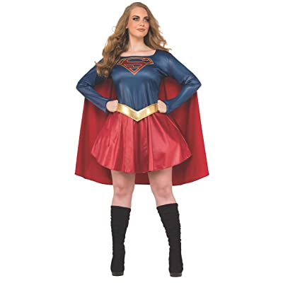 Rubie's Women's Supergirl TV Plus Size Costume, Multi: Clothing