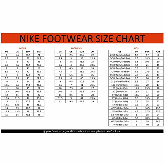 Nike golf shoes men nike clothing size chart conversion big