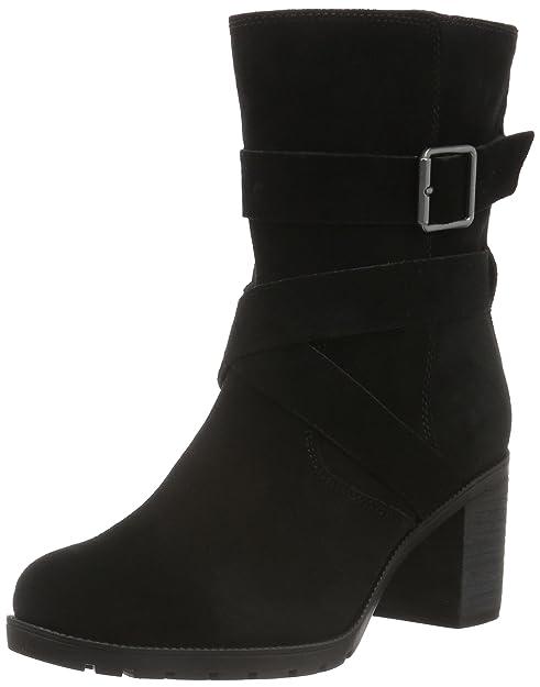 Clarks Malvet Doris, Botines para Mujer, Negro (Black Suede), 41 EU: Amazon.es: Zapatos y complementos