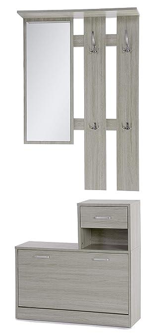 Ts Ideen 3er Set Wand Garderobe Spiegel Schuhkipper Schuhschrank Mit