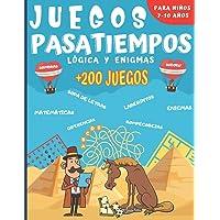 Juegos Pasatiempos Lógica y enigmas: Para niños 7-10 años - Más de 200 juegos - Rompecabezas, enigmas, logicà, sopas de…