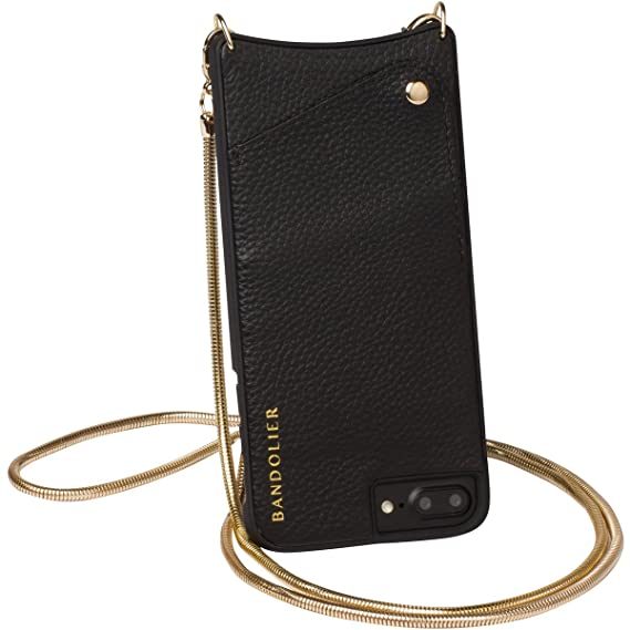 online store 7970a 4fc2a Bandolier [Belinda] Phone Case and Strap Compatible with iPhone 8 PLUS, 7  PLUS & 6 PLUS - Glam Gold Chain Shoulder Purse Strap. Travel Friendly ...