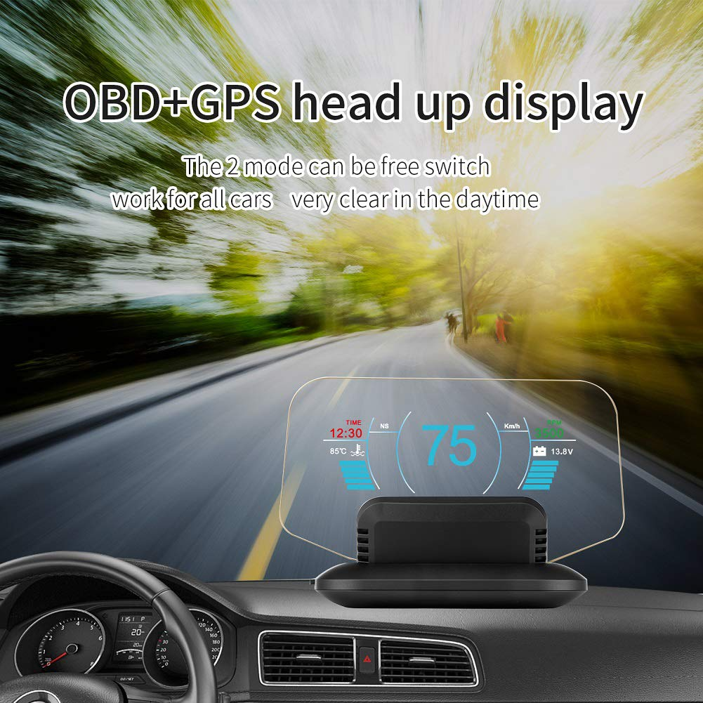 GPS Kopfanzeige Mylujo Head Up Display Auto C1 HD Farbe LCD Display Auto HUD Head Up Display OBD2