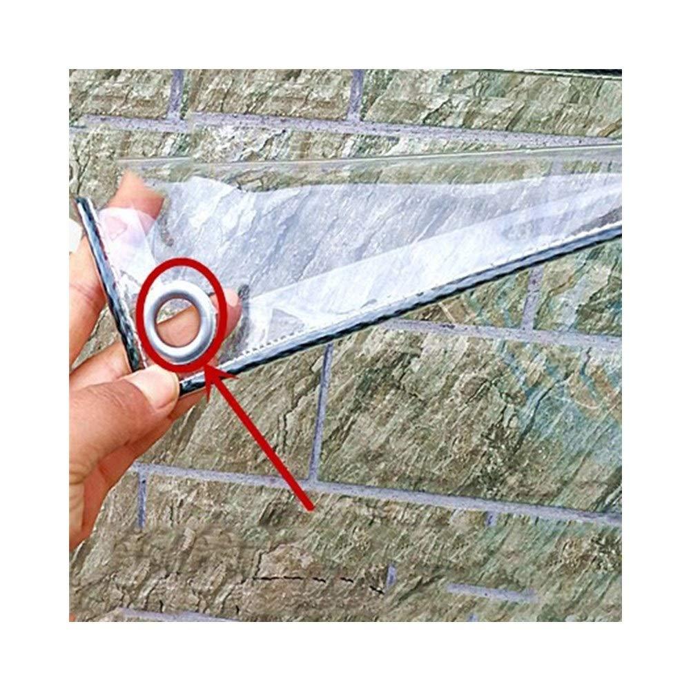 Clear 1.4x2m BÂche Tissu Imperméable Toile à L'huile Jungle Couvercle de Prougeection étanche La Poussière Couvrant Pluie Auvent avec D'enfants, épais 0.3mm,16 Tailles ( Couleur   Clear , Taille   1.6x3m )