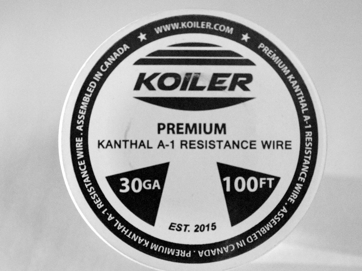 KOILER Premium Kanthal A-1 Resistance Wire - 30 Gauge - 100 Feet