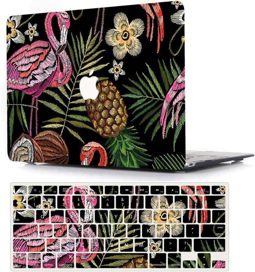 ACJYX MacBook Air 11 Inch Case A1370 A1465,Plastic Hard Shell Case Cover with Keyboard Cover for Laptop Mac Air 11,Flamingo & Pineapple