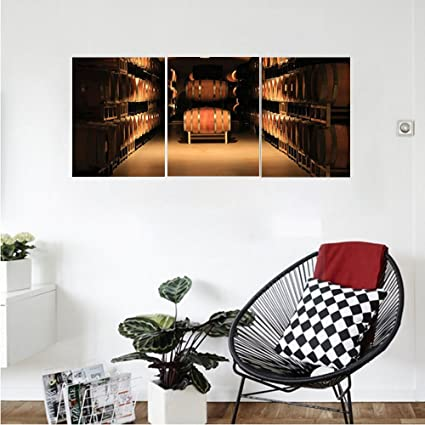 Amazon.com: Liguo88 Custom canvas Winery Decor Wine Barrel Stacked ...