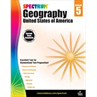 Spectrum Grade 5 Geography Workbook—5th Grade State Standards for Ecology, Events in History, Social Studies With Answer…