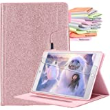 Billionn Case for New iPad 10.2 Inch 2019 (7th Generation), Auto Sleep/Wake Smart Cover with Free Cleaning cloth and Screen protector, Glitter Rose Gold
