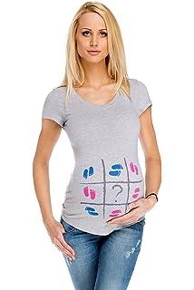 7a8555e62f28 My Tummy T-Shirt Premaman Piedini S (Small) Abbigliamento Premaman Maglie di  maternità