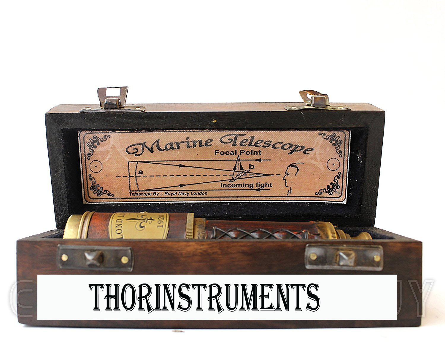 Brass & Leather Sailor Look Brass Antique Sea Marine Telscope by THORINSTRUMENTS (with device) (Image #4)