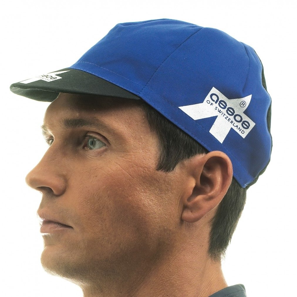 Assos Summer Cycling Cap with Mesh Panel - Blue