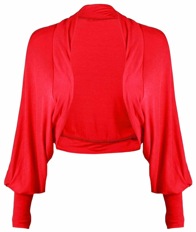 Momo& Ayat Fashions Ladies Batwing Sleeve Plain Cropped Bolero Shrug Size 8-26