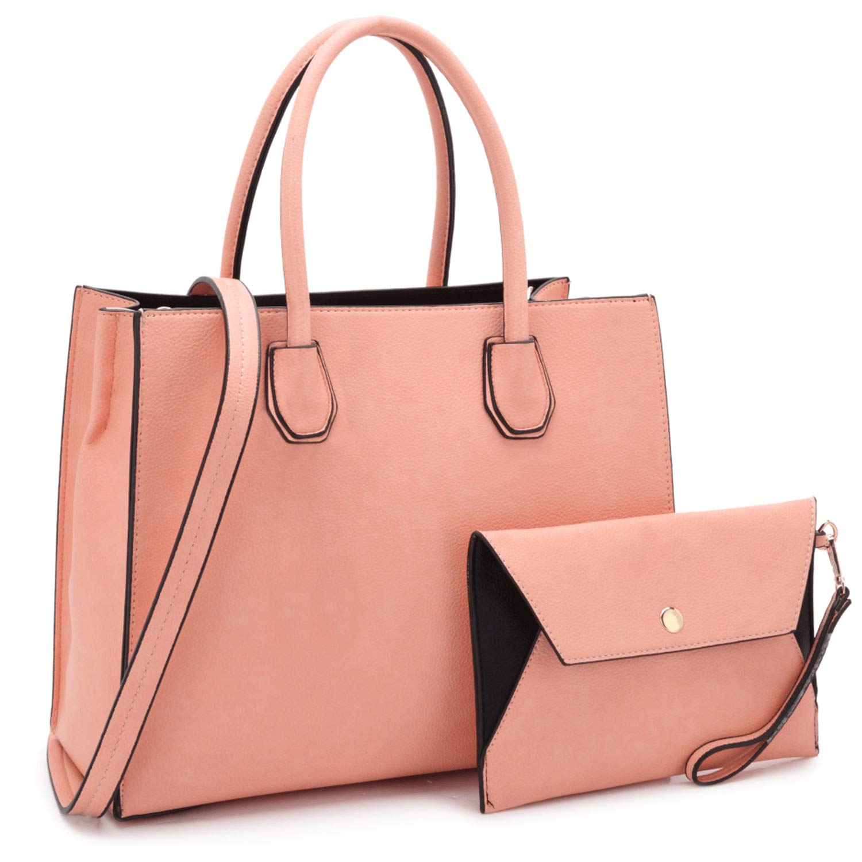 MMK collection Fashion Handbag with coin purse(XL-11) Classic Women Purse Handbag for Women` Signature fashion Designer Purse ~ Perfect Women Satchel Purse (XL-MA-23-7661-PK)