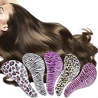 St. Lun New Detangling Comb Plastic Tangle Shower Hair Salon Styling Brush Comb,Variation:black+purple