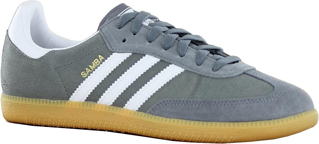 Ninguna débiles tsunami  Adidas Samba Grey White Mens Trainers Size 9 UK: Amazon.co.uk: Shoes & Bags