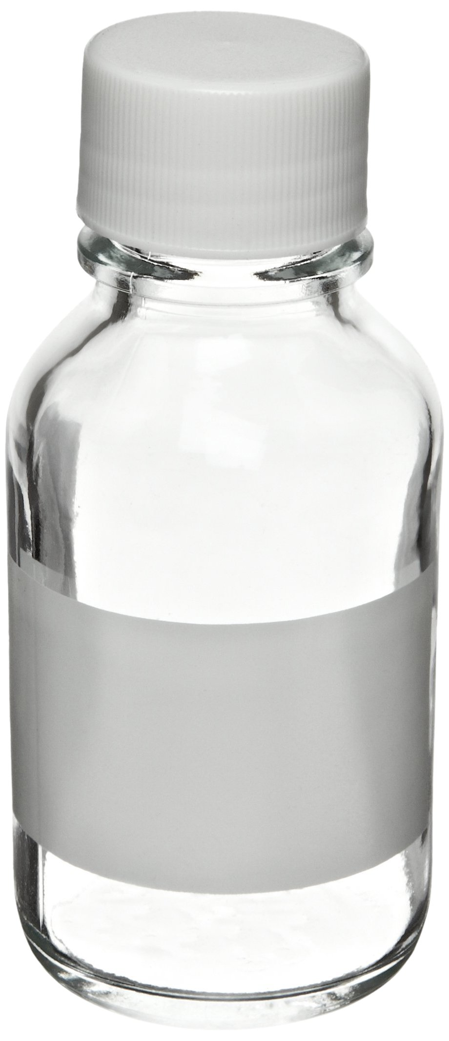 Wheaton 220163 Reagent Bottle, 125mL With 33-430 Solid Polypropylene PTFE Lined Screw Cap, 55mm x 120mm (Case of 6)