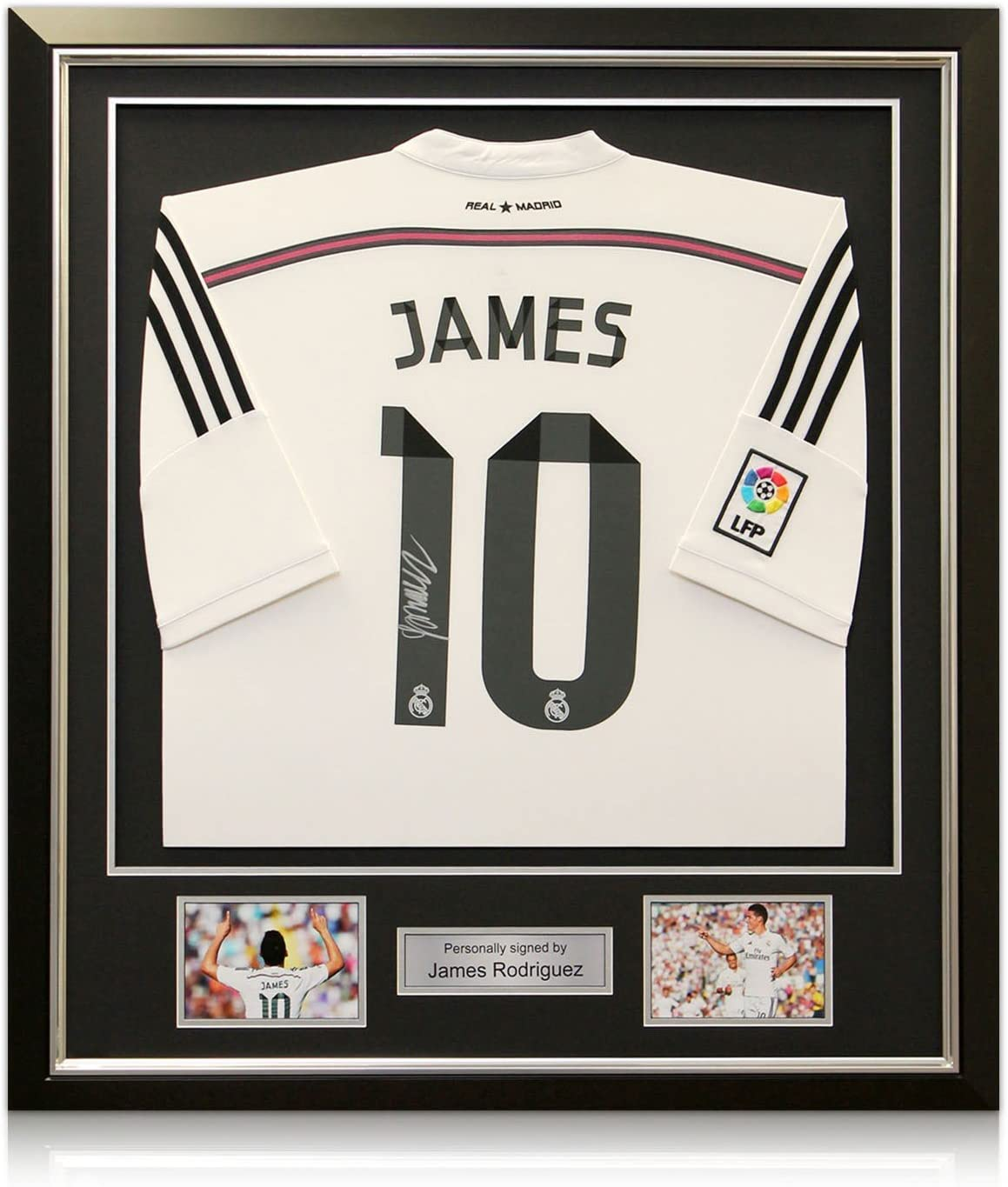 James Rodríguez Real Madrid firmada Football Shirt (Frame Deluxe con plata embutido): Amazon.es: Deportes y aire libre