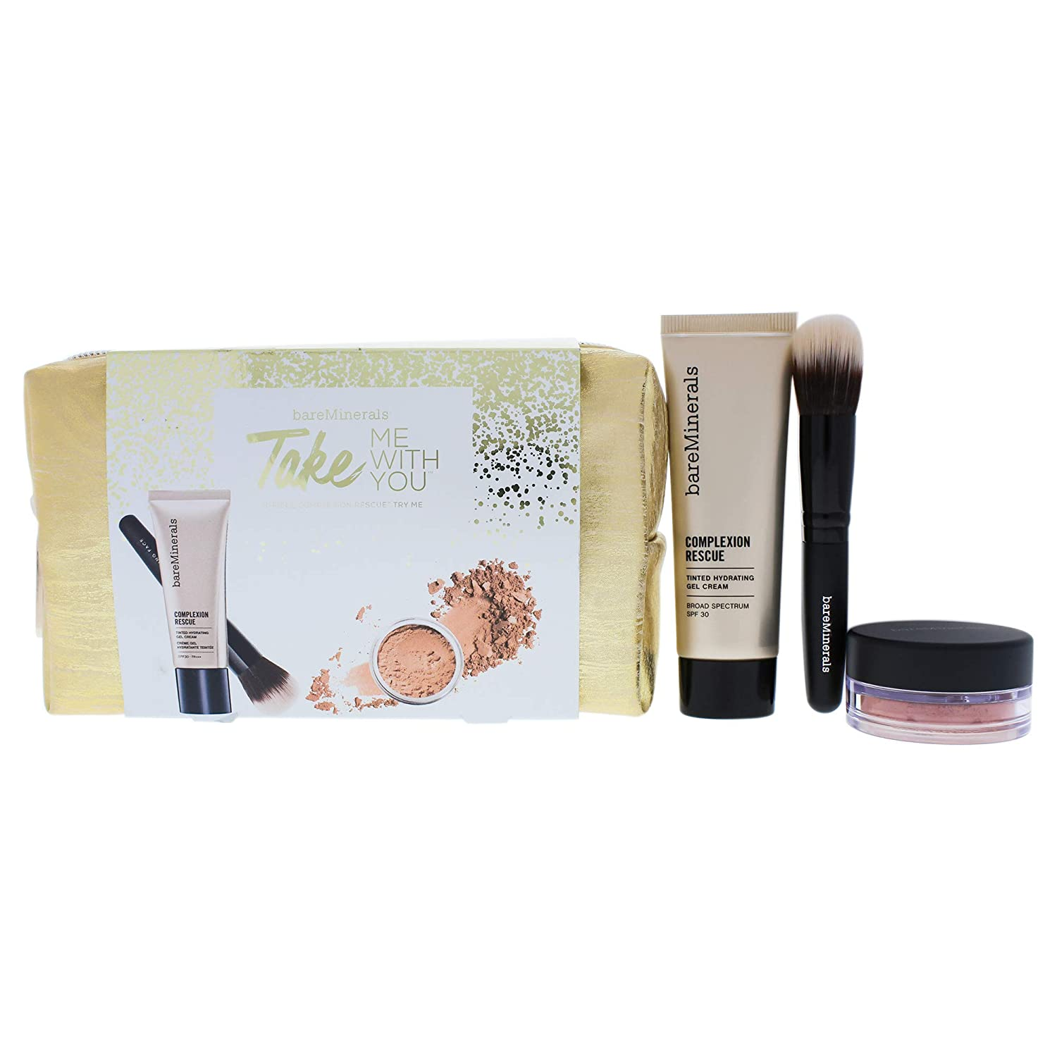 ベアミネラル Take Me With You Complexion Rescue Try Me Set - # 05 Natural 3pcs+1bag並行輸入品 B0764S8VK1