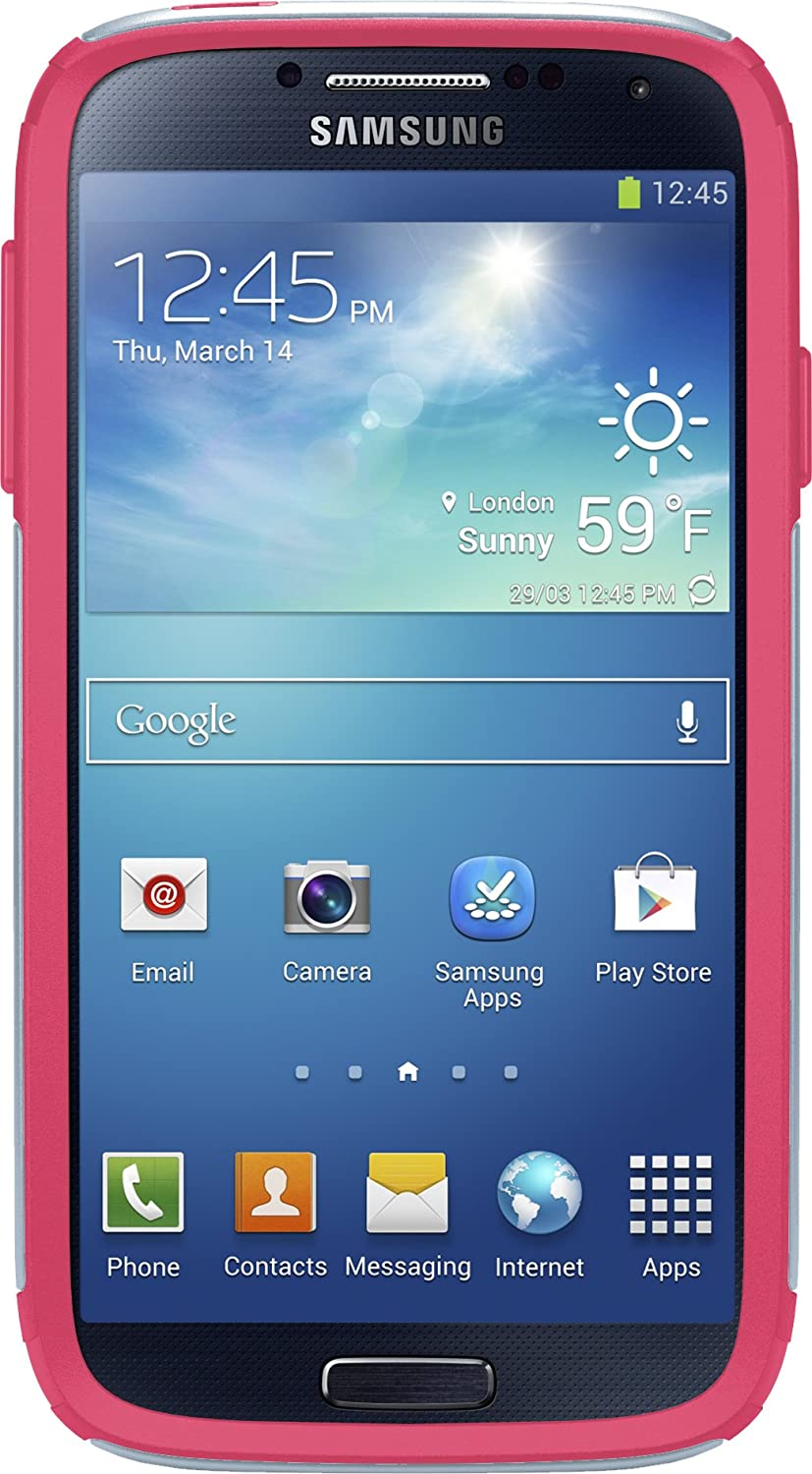 OtterBox Commuter Series Case for Samsung Galaxy S4 - Frustration Free Packaging - Wild Orchid (Powder Grey/Blaze Pink)