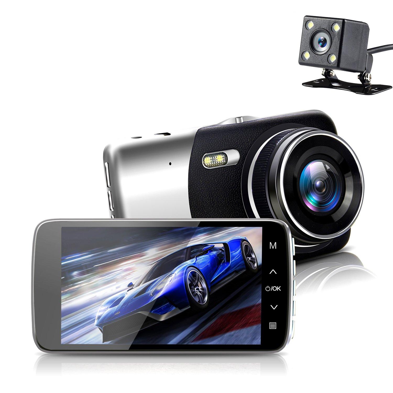 On Dash Camera, Sendowtek Overhead Video Car Camcorder Full HD 1296P Mini Dashboard Cam Vehicle Recorder IPS Screen with G Sensor Motion Detection, Loop Recording, Parking Mode