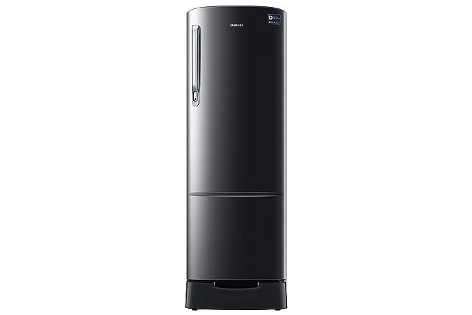 Samsung 255 L 3 Star Direct Cool Single Door Refrigerator(RR26N389ZBS/HL, Black Inox, Base Stand with Drawer, Inverter Compressor)