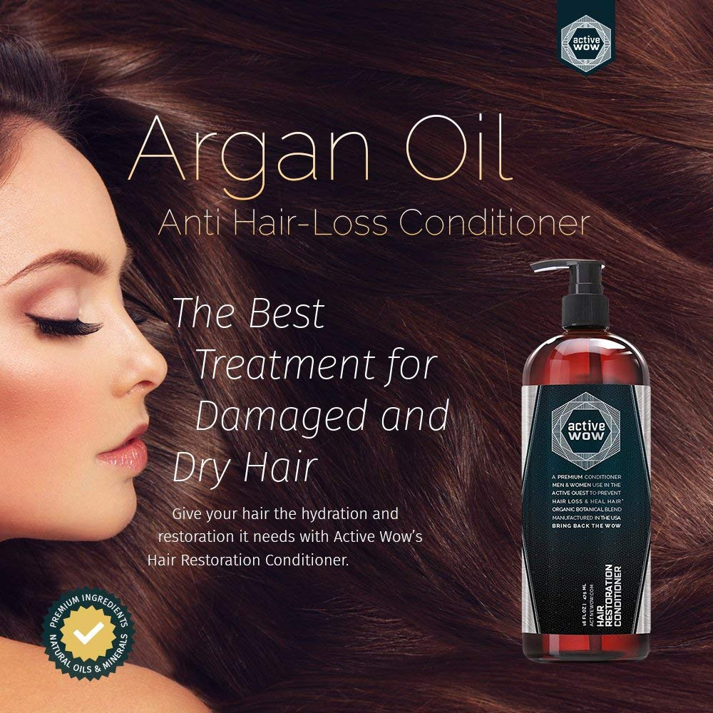Anti Hair Loss Conditioner - Argan Oil & Organic Botanicals - 16 Fluid Oz by Active Wow