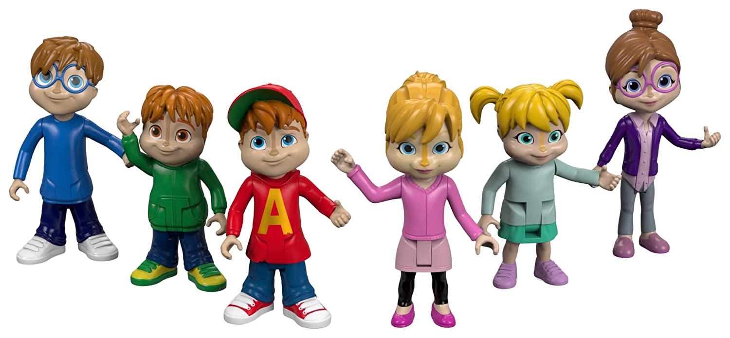 Fisher-Price Alvin & the Chipmunks, We're the Chipmunks Collectible Figures, 6 Pack